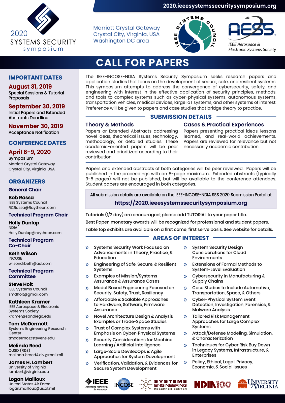 SSS 2020 Call for Papers | IEEE Systems Council